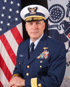 Official Portrait of Rear Adm. Melvin Bouboulis
