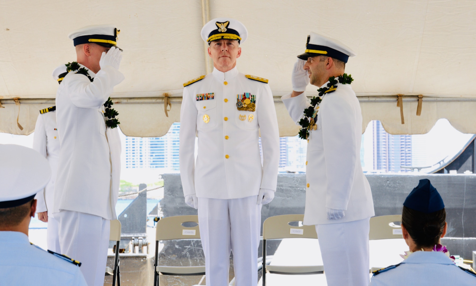 Coast Guard Cutter Walnut holds change of command ceremony