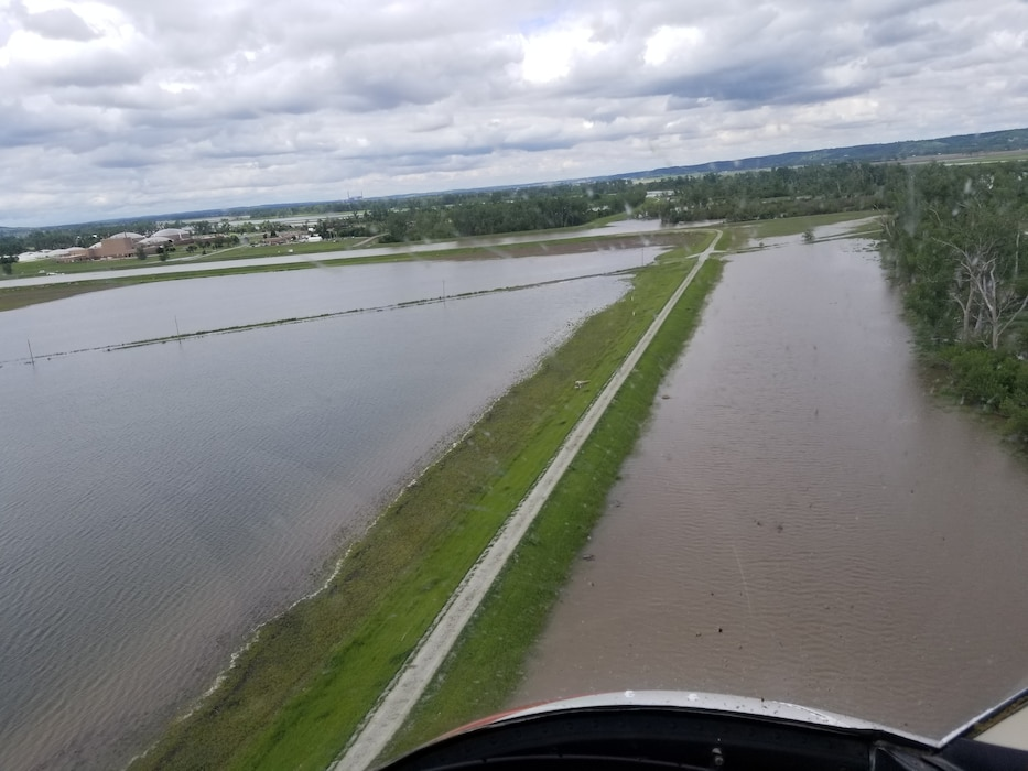 Looking north from approximately the Hwy 34 Bridge May 29 following March 2019 runoff event.