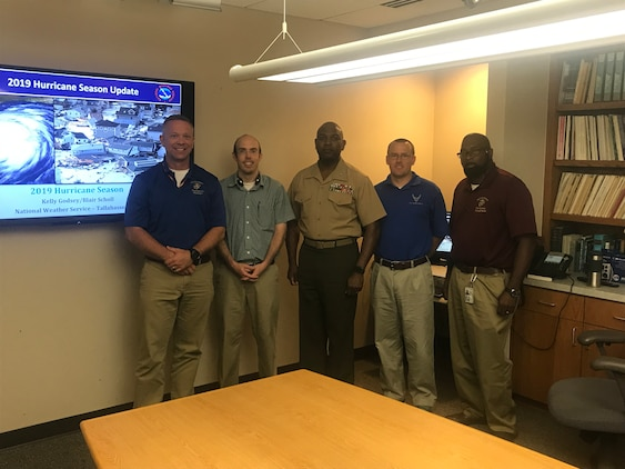The Commanding Officer of Marine Corps Logistics Base Albany, Col. Alphonso Trimble, and members of his staff visited the National Weather Service Weather Forecast Office in Tallahassee, Fla., on June 13, 2019. (U.S. Marine Corps photo by Steve Dancer)