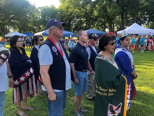 In case you missed it, our new 72nd Air Base Wing Commander, Col. Paul Filcek, (center) spoke at the 2019 Tinker Inter-Tribal Pow Wow held June 8th in Midwest City, Oklahoma. (Courtesy photo/Lee McCullum)