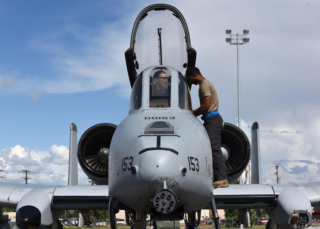 Osan A-10's fly Alaskan skies