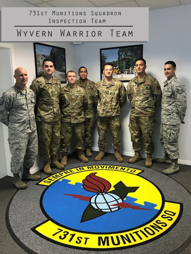 For this week's Wyvern Warrior, we honor the 731st Munitions Squadron Inspection Team.