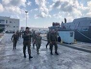 Vice Adm. Lisa Franchetti, C6F, tours the Haifa Naval Base in Israel.