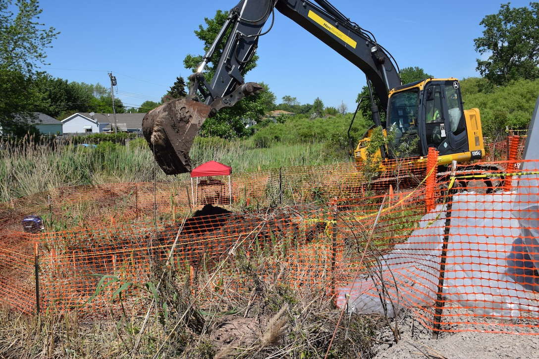 The U.S. Army Corps of Engineers, Buffalo District broke ground to conduct the radionuclide contamination cleanup under the authority of the Formerly Utilized Sites remedial Action Program, also known as FUSRAP, Tonawanda, NY, June 12, 2019.