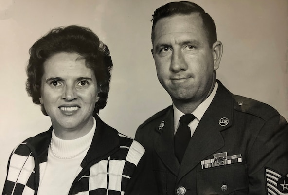 (Courtesy Photo) Gwyneth and Robert Johnson when Robert was nominated for Outstanding Airman of the Year in 1970.