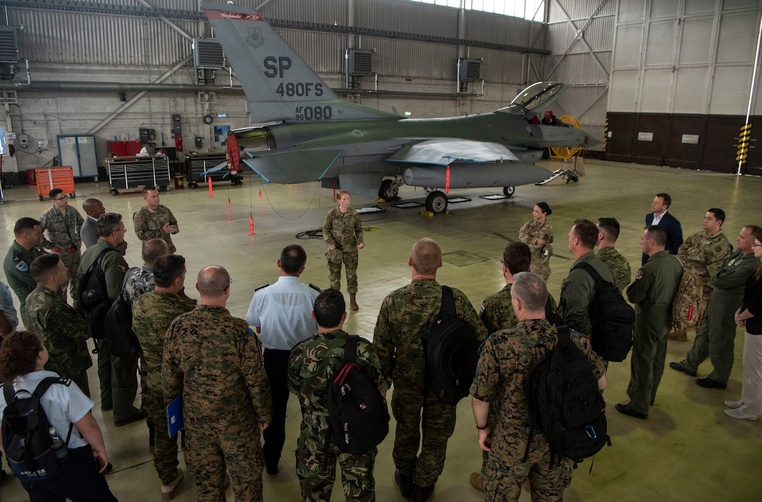 European partnership flight visits Spangdahlem