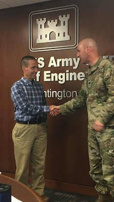 Kevin Nelson was presented with the Commander's Coin for Excellence