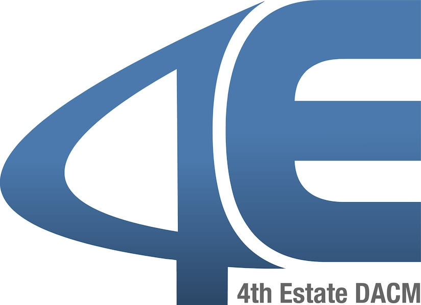 The number 4 and the letter E, with the words 4th Estate DACM underneath.