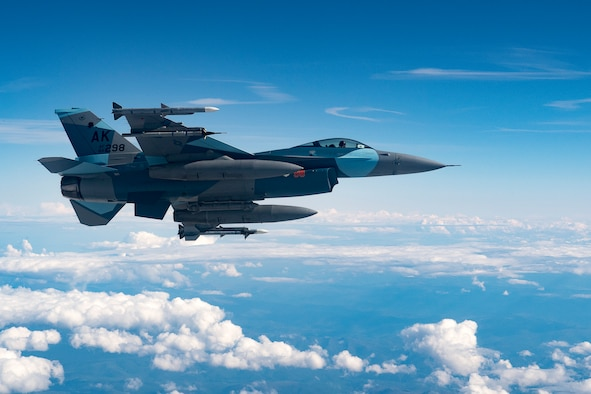 An Air Force F-16 Fighting Falcon