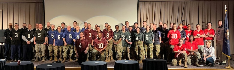 Participants of the 2019 Polyglot Games gather for a photo at the closing of the games held in Draper, Utah, as part of the 300th Military Intelligence Brigade's 30th Annual Language Conference.