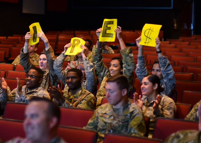 Airmen in audience