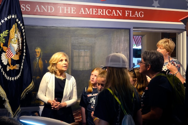 flag ladies educate betsy ross house visitors