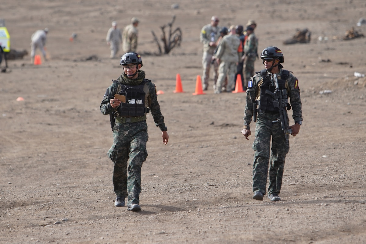 Members of the Honduran Army took part in critical task events three and four.