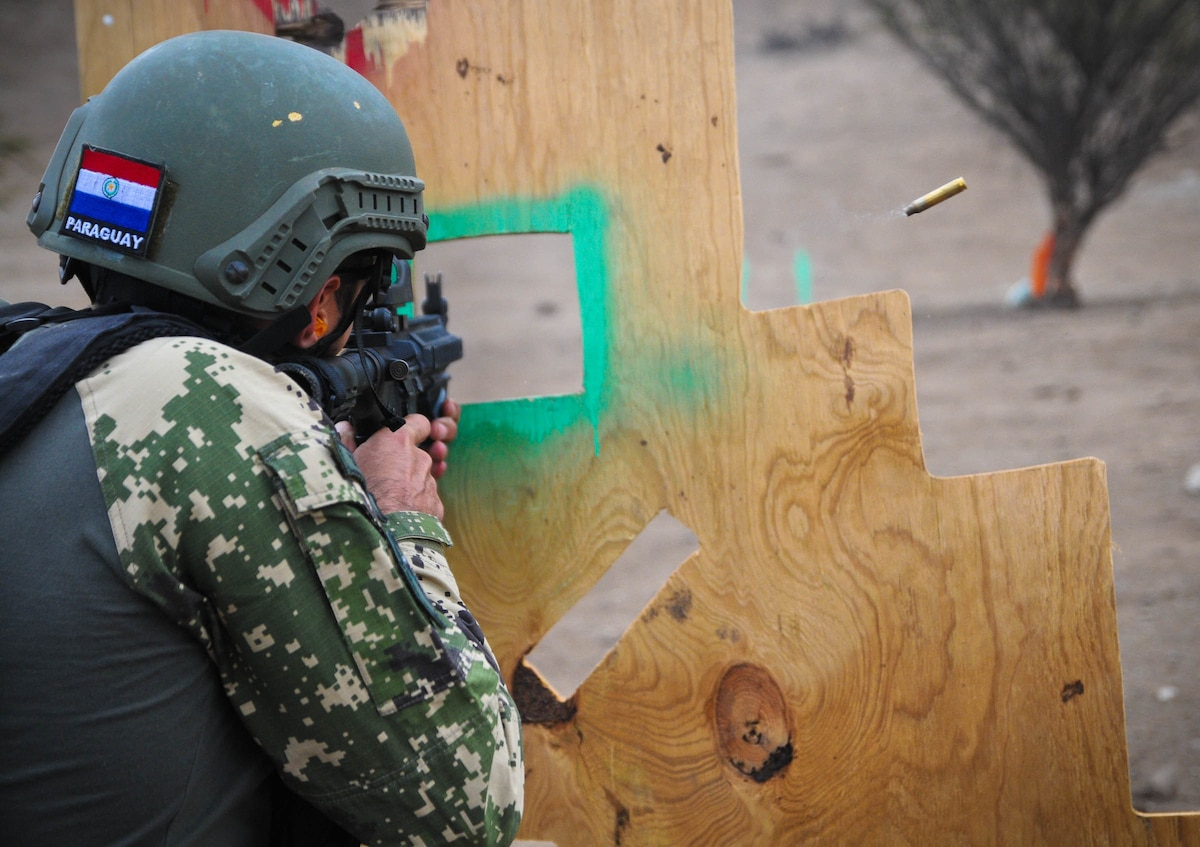A member of the Paraguayan security forces took part in critical task events three and four.
