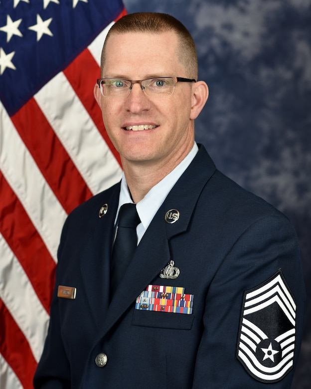 Official Photo of Chief Master Sgt. Mike Piersol, chief enlisted manager for The United States Air Force Band, Joint Base Anacostia-Bolling, Washington, D.C.