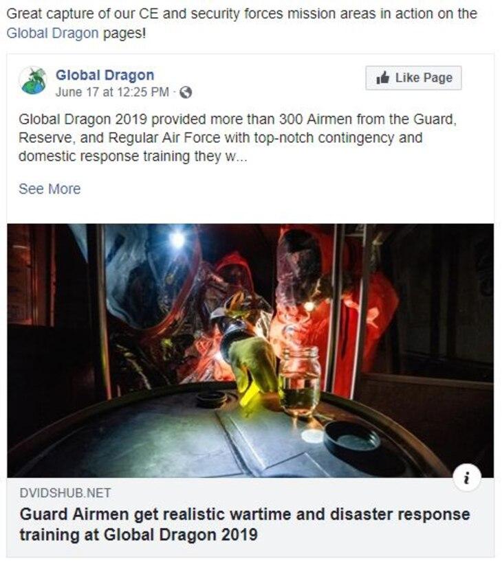 AFIMSC Facebook Post