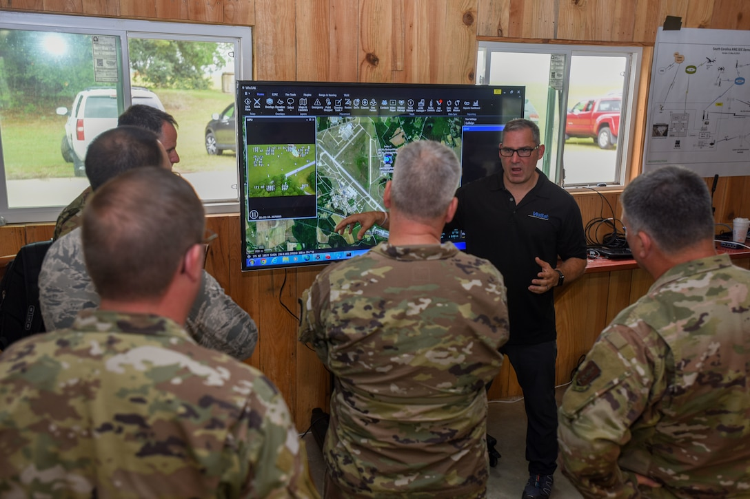 The South Carolina Air and Army National Guard hosted the National Guard Bureau for a test and demonstration of a tactical communications system
