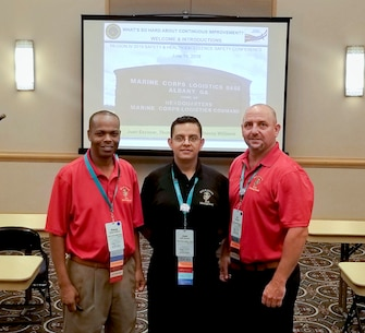 Safety specialists Stacey Williams, Juan Escovar, and TC Mullen from MCLB Albany Risk Management Office delivered a workshop session at the annual Region IV Voluntary