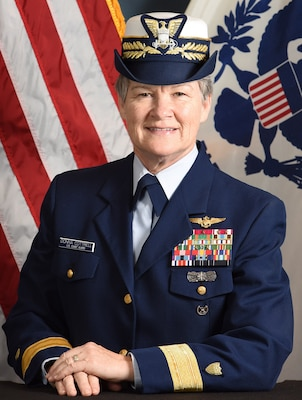 Official Portrait of Rear Admiral Donna L. Cottrell