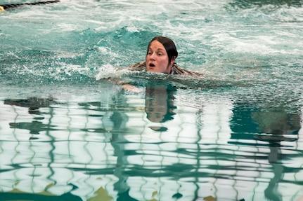Best Warrior Competition swim event