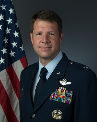 U.S. Air Force Colonel David Lopez, 1st Fighter Wing commander effective June 2019.