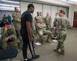 Soldiers of the 152nd Military Police Company, 203rd Military Battalion, Alabama National Guard, participate in Standard Field Sobriety Test training held by the 716th Military Police Battalion, 101st Sustainment Brigade, 101st Airborne Division (Air Assault), on Fort Campbell, Ky., June 19, 2019. For two weeks, in June, Alabama National Guard MPs will be participating in a joint training exercise with the 716th MP Bn., to synchronize training standards, familiarize Soldiers with mission essential tasks and build relationships between active and National Guard counterparts.