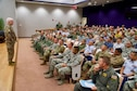 Lt. Gen. L. Scott Rice, Director of the Air National Guard, addresses members of the 154th Wing of the Hawaii Air National Guard at a town hall meeting during his two day visit on June 21, 2019 at Joint Base Pearl Harbor-Hickam.