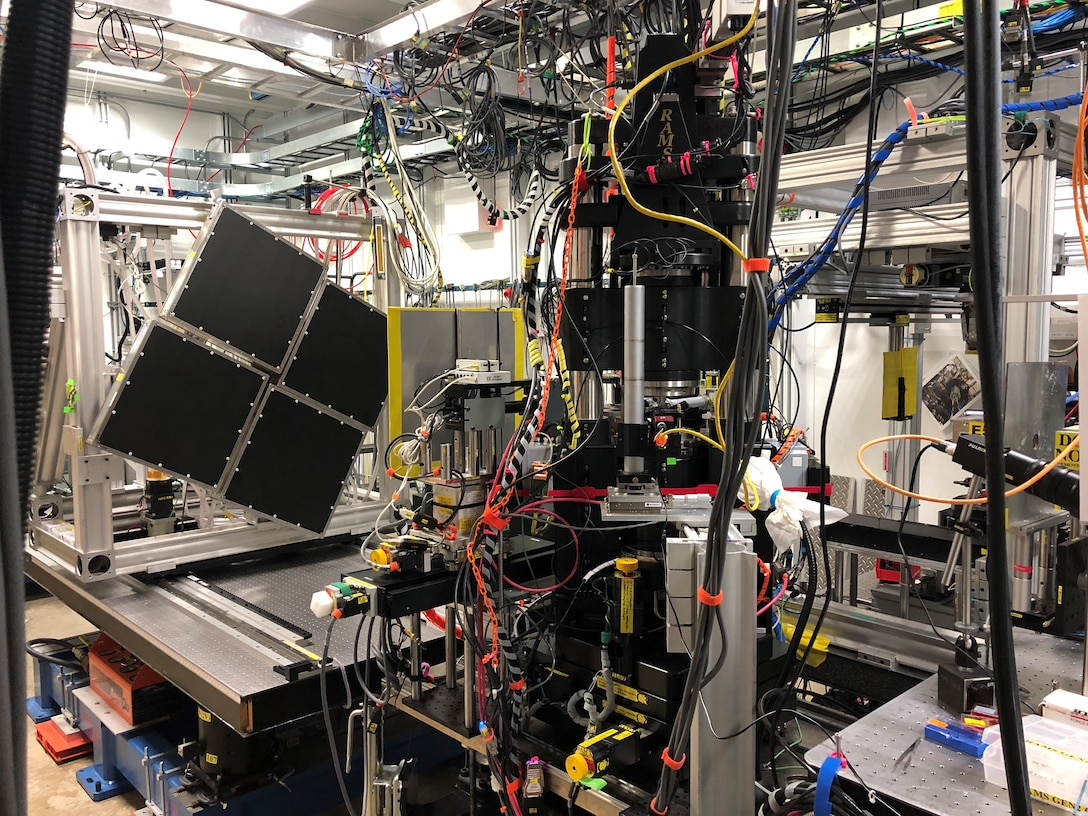 STAR teams use Synchrotron X-Ray facilities to conduct High Energy Diffraction Microscopy experiments. The data collected from these experiments is used to create models. (U.S. Air Force photo/Paul Shade)