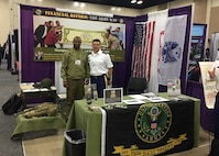 SSG(P) Njoroge and COL LaSala at the ASA (FM&C) Booth at the National PDI; 29-31 May 2019
