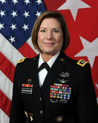 Lt. Gen Laura J. Richardson most recently served at U.S. Army Forces Command at Fort Bragg, N.C., where she was the deputy commanding general.