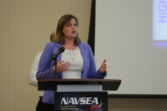 Naval Surface Warfare Center Panama City Division (NSWC PCD) Engineer, Allison Price, recently spoke at the Naval Sea Systems Command (NAVSEA) High Velocity Learning Summit about her experiences in the Next Generation (NextGen) Leadership Development Program to encourage employees to consider applying for this year's program.
