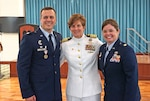 Defense Logistics Agency Energy Okinawa conducted a change of command ceremony at Camp Shields, Okinawa, June 21. DLA Indo-Pacific Commander Navy Capt. Kristin Acquavella (center) transferred command from Air Force Lt. Col. Jarrett Weiblen to Air Force Maj. Tracy Gilmore. Photo courtesy of DLA Energy Okinawa