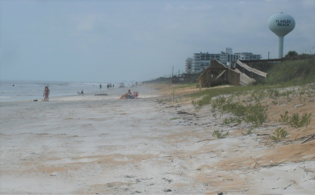 Flagler Beach in Flagler County, Florida, will be the site of a Coastal Storm Risk Management Project that is scheduled to begin in Spring of 2020.