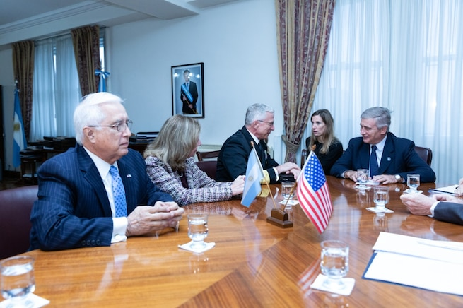 Navy Adm. Craig Faller meets with Argentine Minister of Defence Oscar Aguad