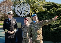 Navy Adm. Craig Faller, visits the CAECOPAZ Argentine peacekeeping training facility.