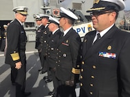 Navy Adm. Craig Faller, visits the Chilean Navy ship CNS Almirante Williams FF19.