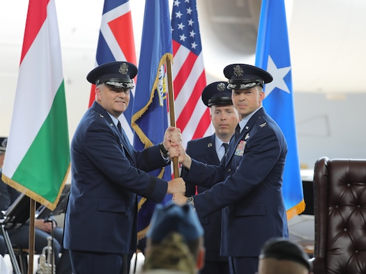 U.S. Air Force Col. James S. Sparrow assumed command of the Heavy Airlift Wing.