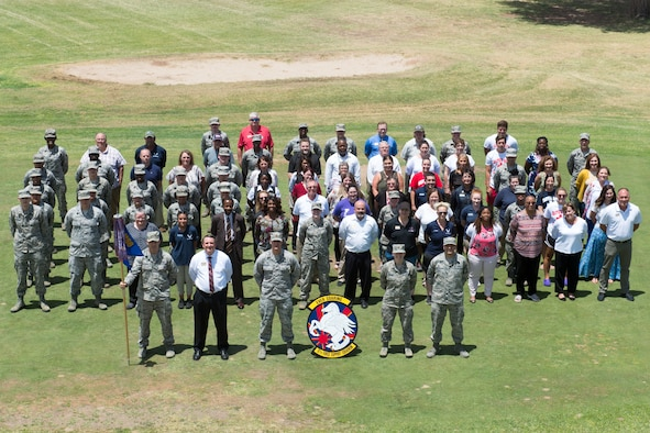 FSS members pose for a squadron photo