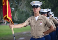 Private First Class Matthew H. Anderson completed Marine Corps recruit training as a platoon honor graduate of Platoon 1053, Company A, 1st Recruit Training Battalion, Recruit Training Regiment, aboard Marine Corps Recruit Depot Parris Island, South Carolina, June 28, 2019. Anderson was recruited by Staff Sergeant Brian McDonald from Recruiting Substation Charlotte. (U.S. Marine Corps photo by Cpl. Erin R. Ramsay)