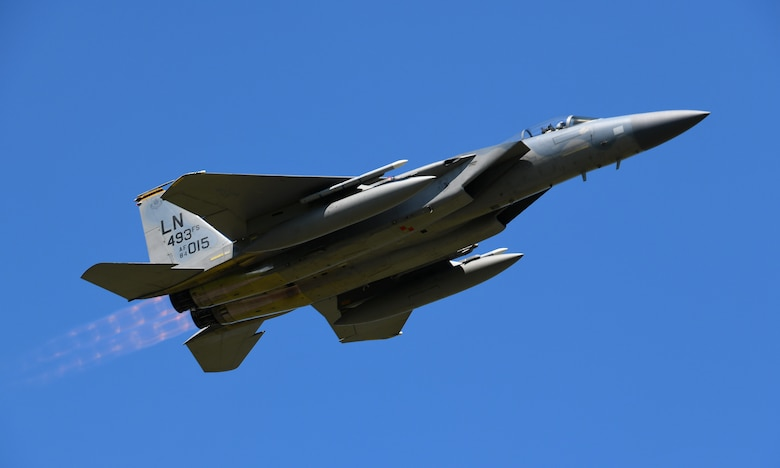 F-15C Eagle takes off during exercise Point Blank 19-2