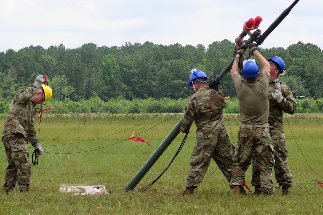 245th Air Traffic Control Squadron 2019 annual training at Georgetown Airport