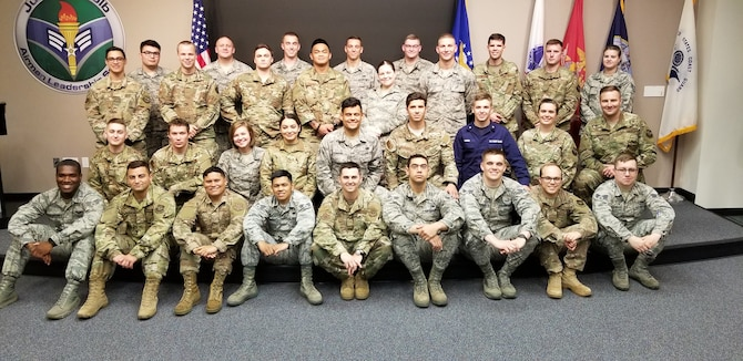 Julius A. Kolb Airman Leadership School class 19-E graduates group photo