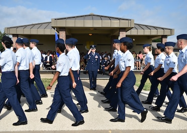 Goodfellow Air Force Base honors Colonel Ricky Mills for his service and welcomes Colonel Andres Nazario as the new Commander of the 17th Training Wing.