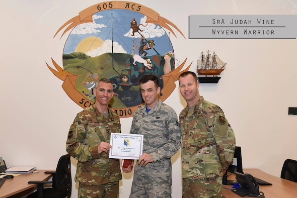This week's Wyvern Warrior is Senior Airman Judah Wine.