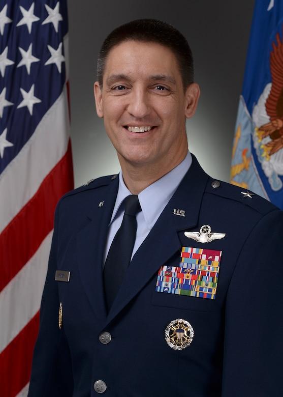 Official portrait -  Brig Gen Kyle Kremer BIO taken in the Air Force portrait studio, Dec. 13, 2018, Pentagon. (U.S. Air Force photo by Staff Sgt. Chad Trujillo)
