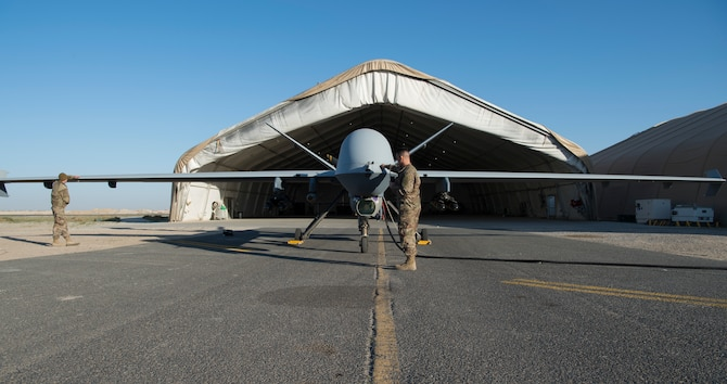 386th EAMXS, 46th EATKS launch MQ-9 Reaper