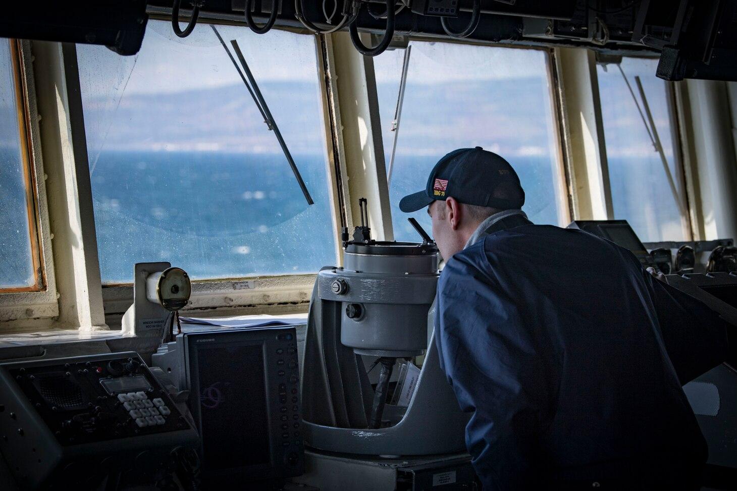 USS Donald Cook Transits the Dardanelles Strait