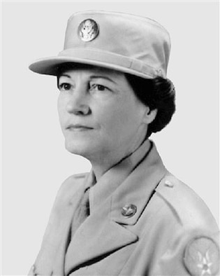 Esther McGowin Blake, the first woman to join the active-duty Air Force in 1948.