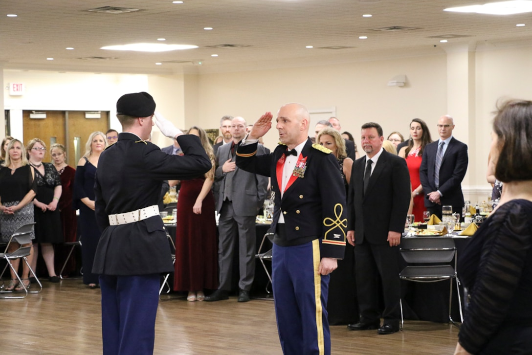 At the culmination of Army Engineer Week, the Huntington District held its First Annual Military Ball at Marshall University's Don Morris Room. Colonel Evers hosted the event in conjunction with the Huntington Chapter of the Society of American Military Engineers (SAME). This was an opportunity for the Huntington District to share in the military traditions of the U.S. Army and share an evening with fellow teammates and family members.